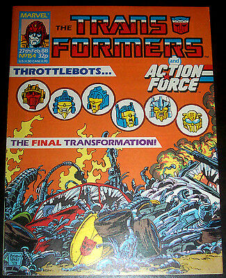 TRANSFORMERS #154 (VF/NM) Decepticons! Autobots! KQQL Issue 1988 Marvel UK