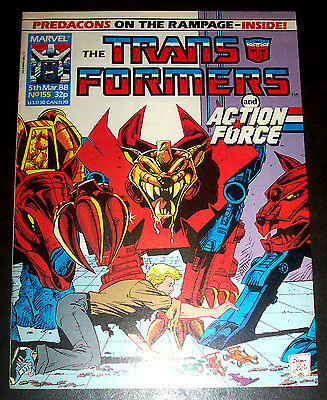 TRANSFORMERS #155 (VF/NM) Marvel UK Decepticons! Autobots! Copper-Age Issue 1988