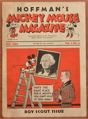 1934 Hoffmans Milk Altoona PA Mickey Mouse Magazine Boy Scout Issue Vol 1 No 4