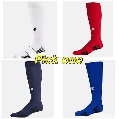 NWT Under Armour Boy's Youth UA Over the Calf Team Soccer Socks YLG Pick Colors
