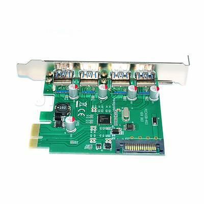 4 Port External High-Speed USB3.0 PCI-Express Expansion Card Chipset for NEC