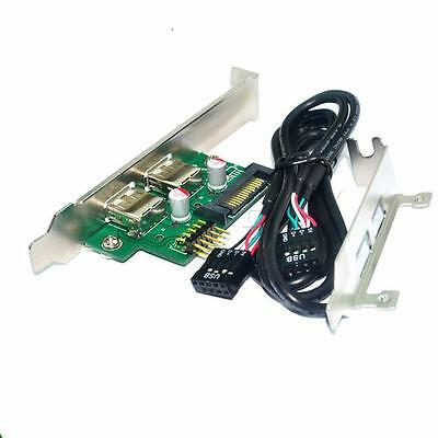 9pin to USB2.0 Adapter+ PCI-e Profile Bracket+ USB Header Female Cable