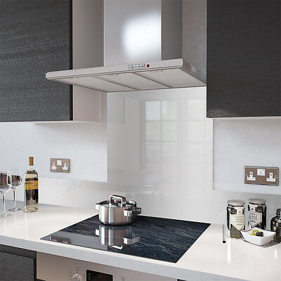 Silver Toughened Glass Heat Resistant Splashbacks  Stainless Steel effect SALE!!