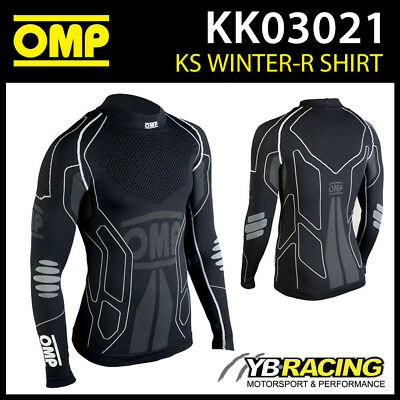 Sale! Kk03021 Omp Ks Winter Karting Long Sleeve Thermal T-Shirt Kart Base Layer