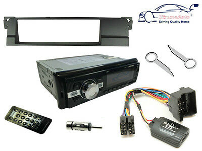 BMW 3 SERIES 98-05 E46. Bluetooth Car Stereo Head Unit Radio + Fascia + Steering