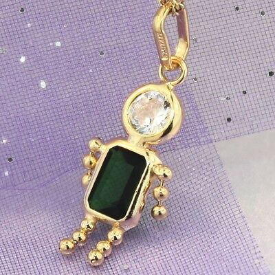 "Yellow Gold ""GREEN GEM BABY BOY CHARM"" Brand New & Genuine Genuine 9K Gold"