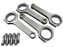 H-Beam Connecting Rods + Bolts For Nissan 240SX Frontier KA24DE Engines