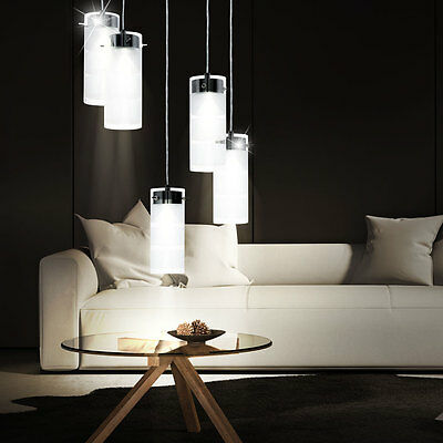 35 watt led h nge leuchte flur diele beleuchtung decken lampe glas wei lounge eur 81 90. Black Bedroom Furniture Sets. Home Design Ideas