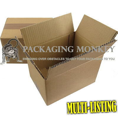 "305x229x229mm//12x9x9/""DOUBLE WALL=STRONG Cheap Small Cardboard Boxes ANY QTY BOX"