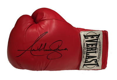 Anthony Joshua Signed Boxing Glove World Olympic Champion See Real Proof & Video