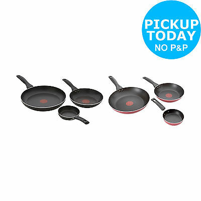 Tefal Easycare Aluminium Non-Stick 3 Pack Frying Pan Set - Black/Red -From Argos