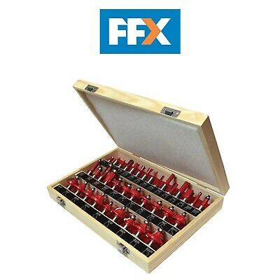 Faithfull FAIRBS35 Tungsten Carbide Router Bit Set 35 in Case 1/2in Shank