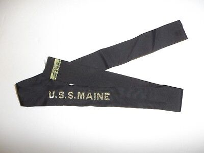b0425 USS Maine Hat Tally Battle Ship BB10 ACR1 IR31A