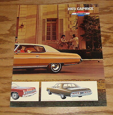 Original 1973 Chevrolet Caprice Facts Features Sales Sheet Brochure 73 Chevy