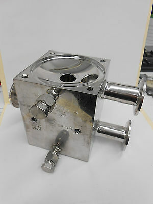"""S4Fv 1"""" Sanitary Tri-Clamp Stainless Steel Double Valve Body"""