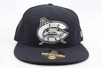 best service 60028 23b16 Carolina Mudcats All Black White Silver Red MiLB New Era 59Fifty Fitted Hat