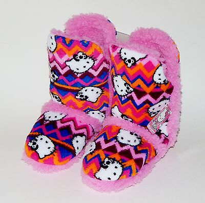 29bcc984e HELLO KITTY Tall Plush Sherpa-Lined Rubber Bottom Boot Bootie Slippers NWT  $28