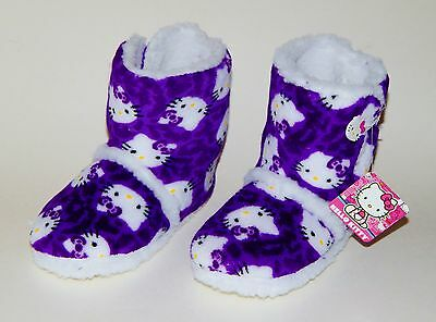 911f7349fdb8 HELLO KITTY Warm Plush Sherpa-Lined Rubber Bottom Boot Bootie Slippers NWT  $26