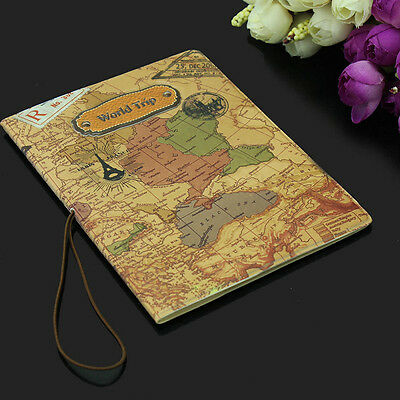 Travel ID Card Passport Holder Document Protector Map Cover Case Bag Wallet