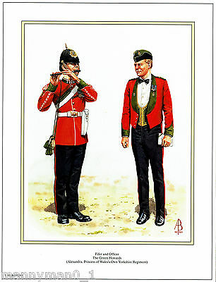 Green Howards Alexandra Princess of Wales's Own Yorkshire Regiment Signed Print