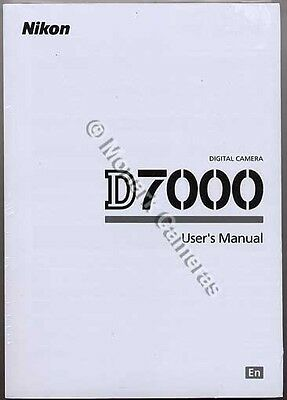 Nikon D7000 Instruction Manual, More GENUINE Manuals & Guides Listed, No Copies.