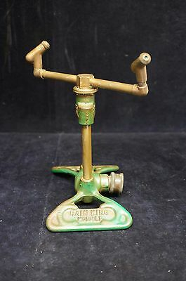 Vintage Rain King Model D Sun Beam Corp Chicago Cast Iron Sprinkler Water Hose