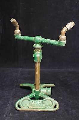 Vintage Rain King Model H1 Sun Beam Corp Chicago Cast Iron Sprinkler Water Hose