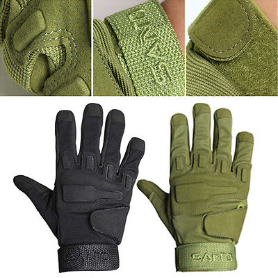 Santo One Pair Outdoor Tactical Lightweight Full Finger Spandex Gloves RX