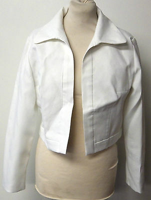 Vintage 1960s David Jones White Chiffon Jacket - UK Size 14/16