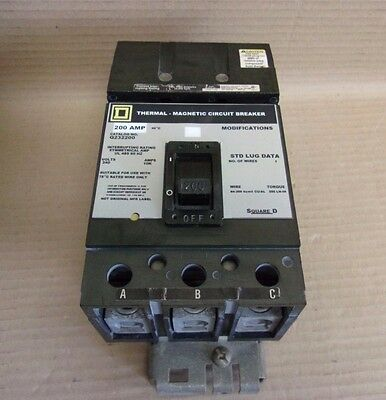 Square D Q2 3 pole 200 amp 240v Q232200 Circuit Breaker GREY UR