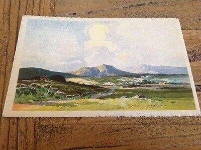 Old Postcard The Hills Of Donegal