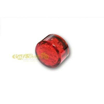 Fanalino posteriore PIN RED a LED Omologato custom cafe racer vintage 102691