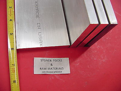 "4 Pieces 1/2"" X 3-1/2"" ALUMINUM 6061 FLAT BAR 6"" long T651 .50"" Solid Mill Stock"