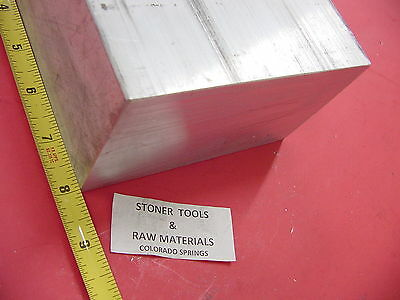 "3"" X 6"" ALUMINUM 6061 FLAT BAR 8"" LONG SOLID T6511 3.00"" Plate Mill Stock"