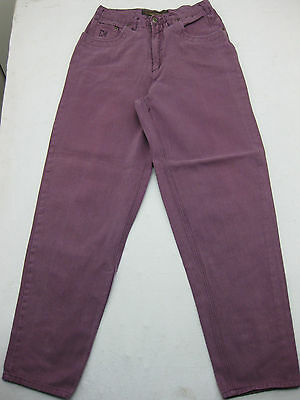 Maneuvers Purple Authentic Retro Vtg 80s 90s High Waisted Jeans Size 32 34 30 31