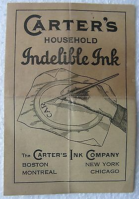 """1940's """"Carter's Ink Advertisement"""", Indelible Ink and Liquid Paste with photos"""