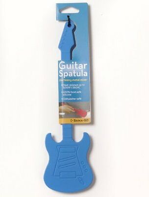 Gama-Go GUITAR Baking SPATULA Silicone Mixing Utensil - BLUE
