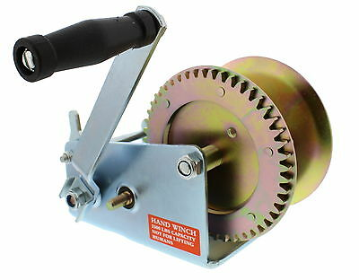 ABN Hand Winch Crank Gear Winch & Cable, Heavy Duty, for Trailer, Boat or ATV