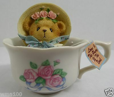 ENESCO Cherished Teddies 2001 Love is the POetry of the Soul Spice Bag & Cup WOW