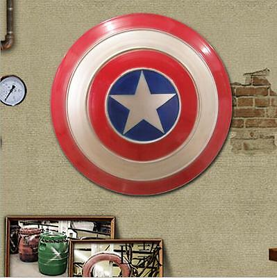 Avengers Captain America Shield Iron Replica Cosplay Prop Bar Decoration