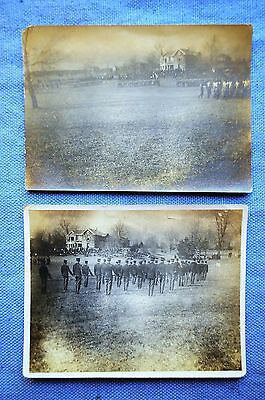 Two 1902  Era Army Parade on Fort Parade Grounds