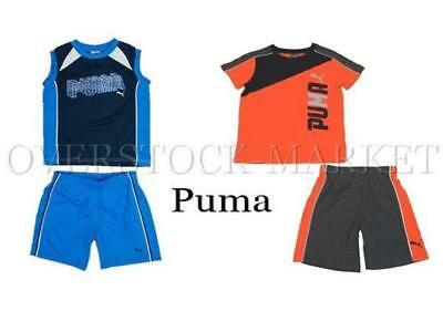 New!  Boys Puma 2 Piece Spring/summer Short Sets! Variety Styles, Colors,sizes
