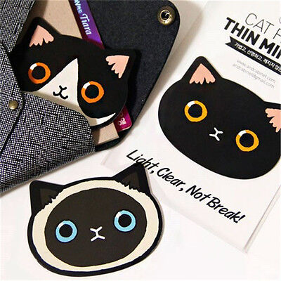 Women Fashion Portable Pocket Cosmetic One Side Kitty Cat Mini Makeup Mirror