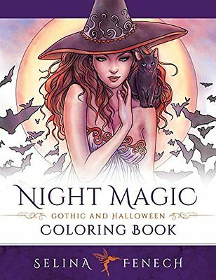 Adults Sexy & Magical Designs Coloring Book Stress Relieving - Night Magic