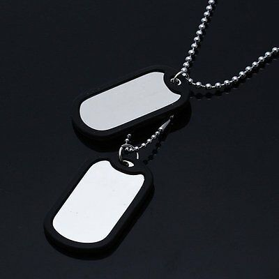 US Military Army Style Custom Stainless ID Dog Tag Toe Tags Chain Plane sheet