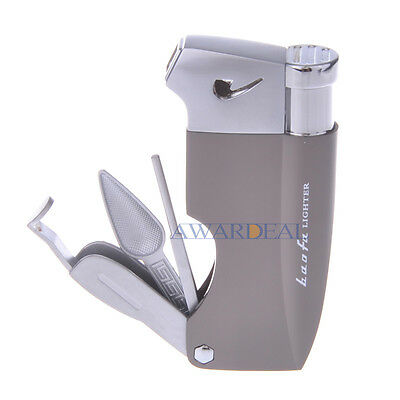Tobacco Pipe&Tool Shape Butane Gas Refillable Cigaratte Lighter Cigar Flame Fire