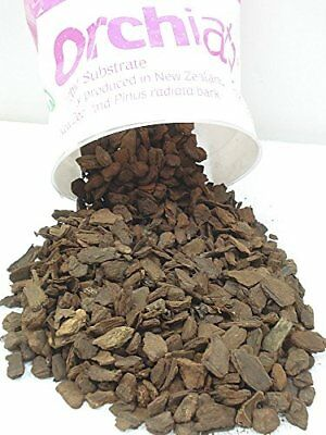 """Orchiata New Zealand Orchid Bark - Large 3/4"""" Chips - 1 Gallon Bag / 3 Lbs"""