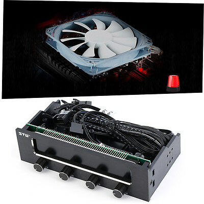5.25 LCD Panel Fan Speed Temperature Controller Governor PC Hardware ProtectorBH