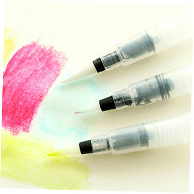 3Pcs Watercolor Nylon Hair Painting Brush Self Moistening Calligraphy Pen XP