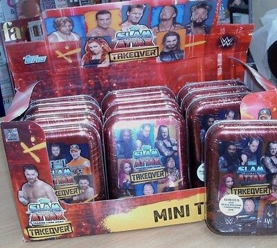 Topps WWE Slam Attax Takeover Trading Cards Game Collector Tin + LimitedEdition